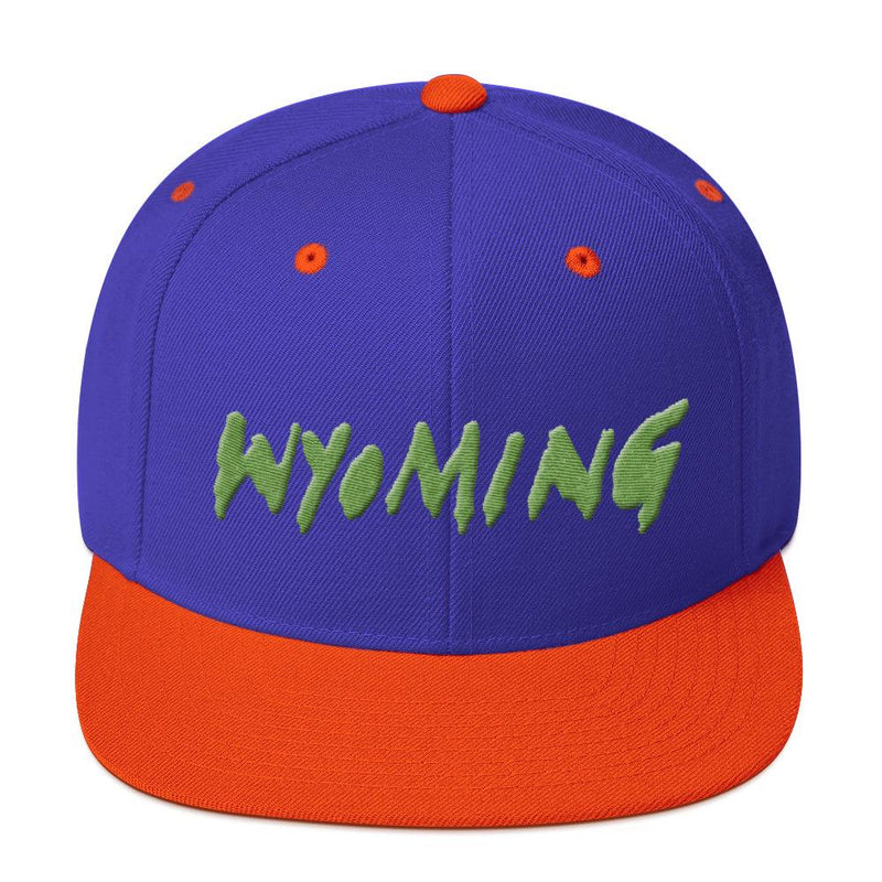 Wyoming Merch Snapback Hat-Royal/ Orange-Archethype