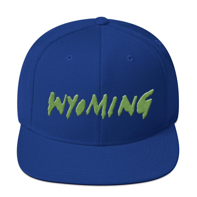 Wyoming Merch Snapback Hat-Royal Blue-Archethype
