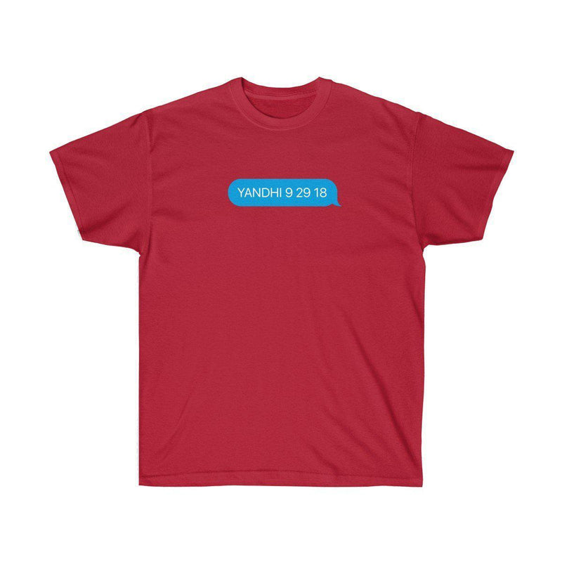 YANDHI 9 29 18 Kanye West iMessage Inspired Tee-Cardinal Red-S-Archethype