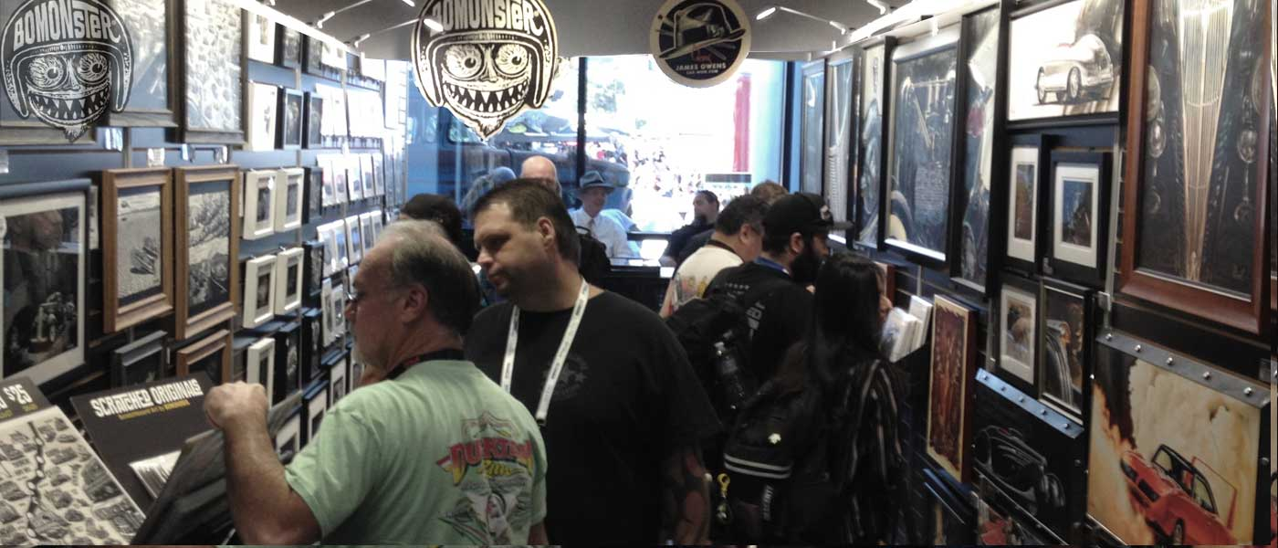 sema art gallery artwalk featuring bomonster and james owens