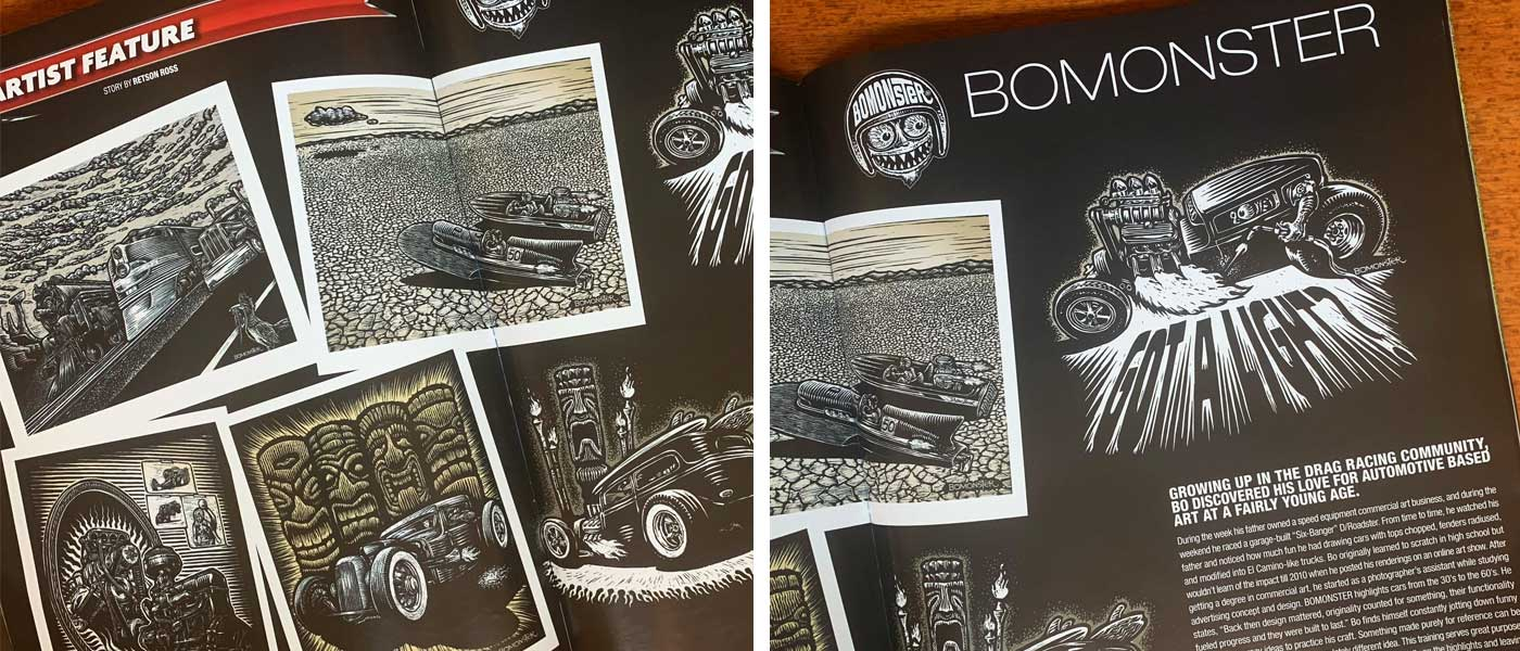 Speed and Kulture magazine BOMONSTER article