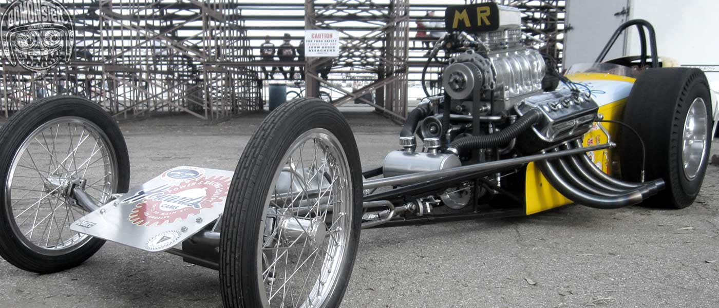 classic digger dragster at famoso bakersfield