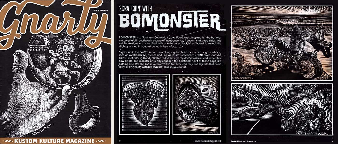 bomonster on the cover of gnarly magazine