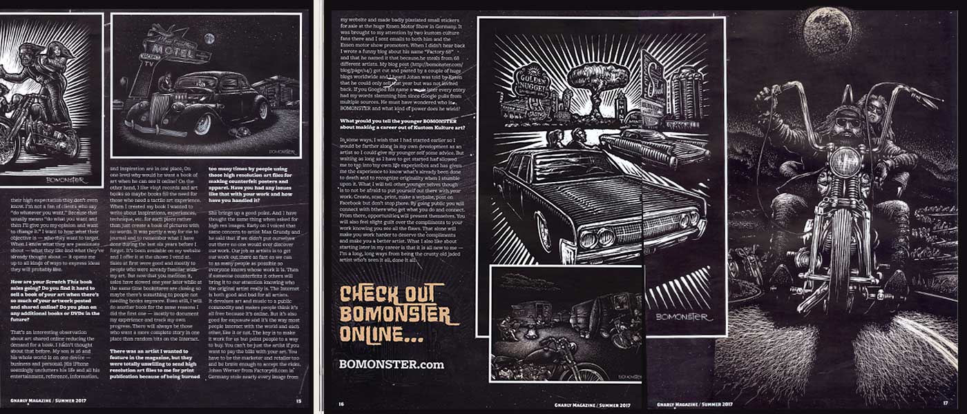 bomonster and the gnarly magazine interview