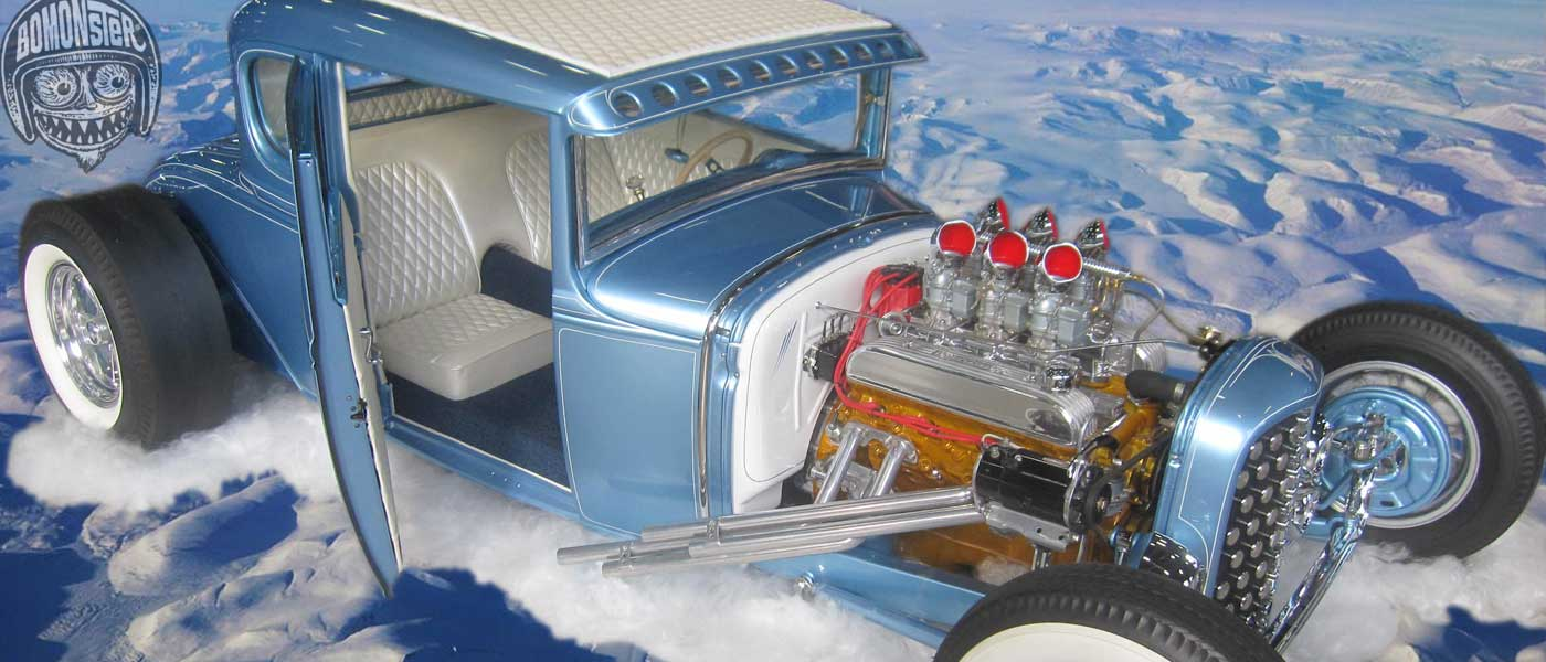 bomonster discovers model a hot rod is cause of climate change