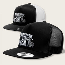 Load image into Gallery viewer, bomonster hot rod design on trucker style hat