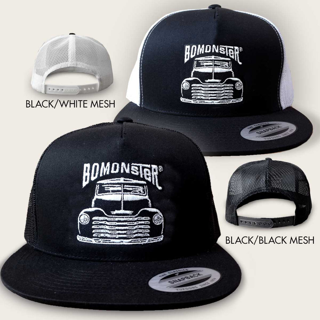 vintage chevy truck trucker hat by bomonster