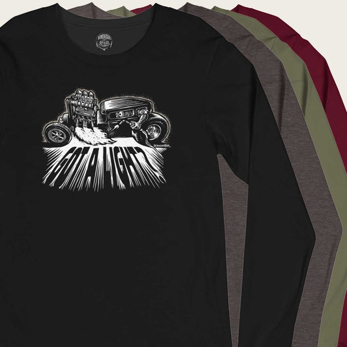 hot rod monster light welding torch longsleeve by bomonster
