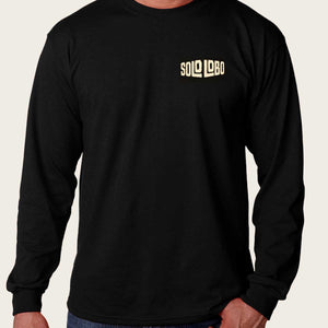 "Men's Harley Long Sleeve T-Shirt ""Solo Lobo"""