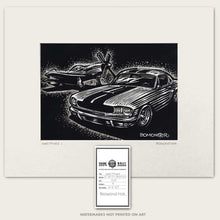 Load image into Gallery viewer, original ford mustang art by bomonster