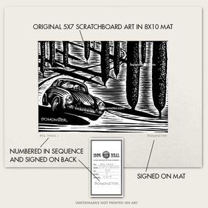 "Original Porsche Art ""356 Trees #5"""