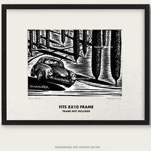 "Load image into Gallery viewer, Original Porsche Art ""356 Trees #5"""