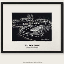 "Load image into Gallery viewer, Original Ford Mustang Art ""Mustangs #9"""