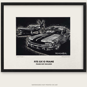 "Original Ford Mustang Art ""Mustangs #9"""