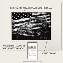 "Load image into Gallery viewer, Original Ford Truck Art ""56 Flag #1"""