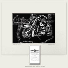 Load image into Gallery viewer, vintage harley-davidson electra glide in arches national park art by bomonster