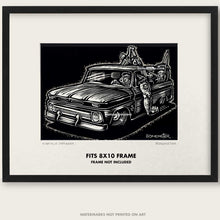 "Load image into Gallery viewer, Original C-10 Truck Art ""Knuckle Dragger #1"""