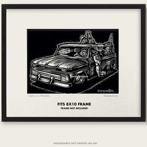 "Original C-10 Truck Art ""Knuckle Dragger #1"""