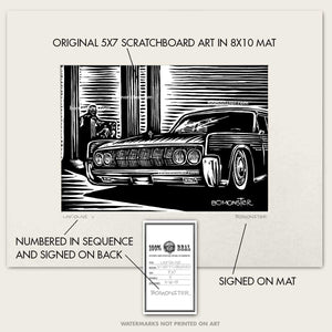 "Original Lincoln Continental Art ""Lincolns #5"""