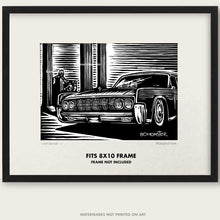 "Load image into Gallery viewer, Original Lincoln Continental Art ""Lincolns #5"""