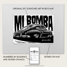 "Load image into Gallery viewer, Original Lowrider Chevy Fastback Art ""Mi Bomba"""