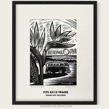 "Load image into Gallery viewer, Original VW Bus Art ""Paradise Found #1"""