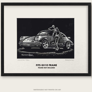 "Original Porsche Art ""Skeleton Crew #6"""
