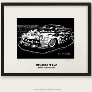 "Original Custom Car Art ""Sled #1"""