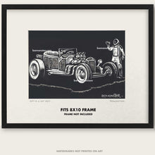 "Load image into Gallery viewer, Original Hot Rod Roadster Art ""SPACEX HOT ROD #1"""