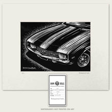 Load image into Gallery viewer, 1969 camaro super sport muscle car art by bomonster
