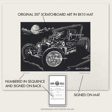 "Load image into Gallery viewer, Original Hot Rod Art ""T-Bucket #1"""