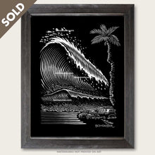 Load image into Gallery viewer, original vw scratchboard art by bomonster