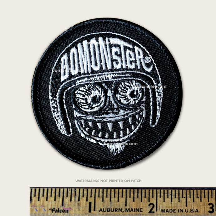 patch of bomonster avatar monster face logo