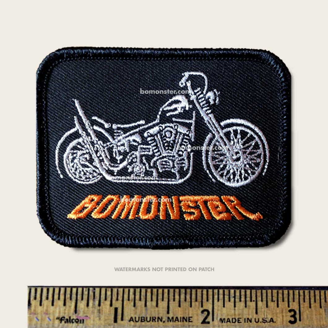 bomonste patch of harley chopper motorcycle