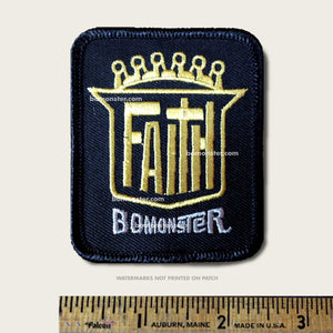 shield of faith christian custom emblem patch