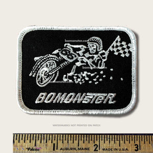 "Motorcycle Patch ""Flat Tracker"""