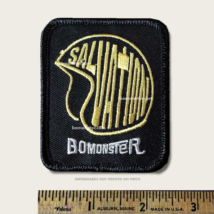 helmet of salvation christian motorcycle patch