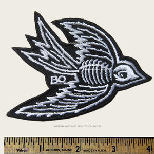 bomonster lowbrow patch with sparrow bones