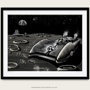 mooneyes moonliner land speed racer on moon by bomonster