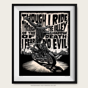 "Original Motorcycle Art ""Psalm 23"""