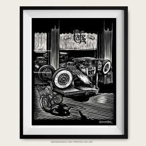 "Original Rat Rod Art ""Ride A Rat"""