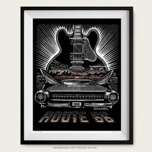 "Load image into Gallery viewer, Original Route 66 Art ""Guitar Blues"""
