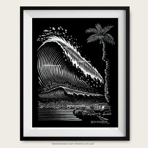vw tsunami litho print by bomonster