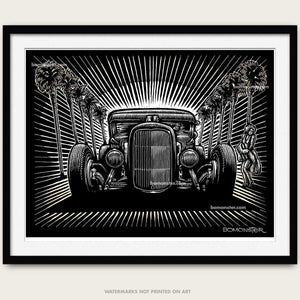 "Original Hot Rod Art ""Hollywood Hot Rod"""