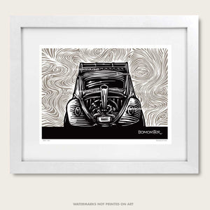 bomonster psychedelic vw bug art