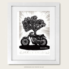 Load image into Gallery viewer, triumph desert sled art print by bomonster