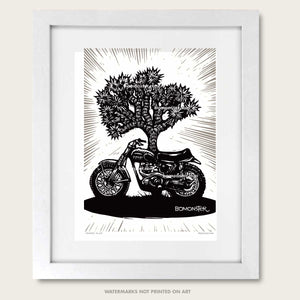 triumph desert sled art print by bomonster