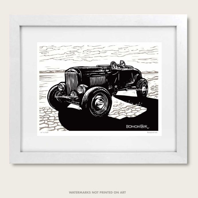 bomonster hot rod art of dry lakes style model a roadster