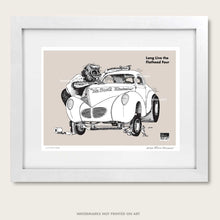 "Load image into Gallery viewer, Winston's Drag Racing Art ""Flathead Four"" Litho Art Print"