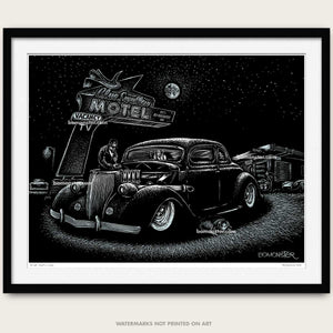 "Original Hot Rod Art ""Blue Swallow"""